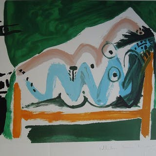 Pablo Picasso (after) -Nu allongée