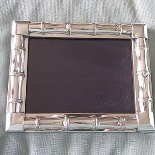 Gucci- Bamboo sterling silver photograph frame