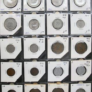 Israel, Palästina - Collection various coins 1935/1955(20 different) incl