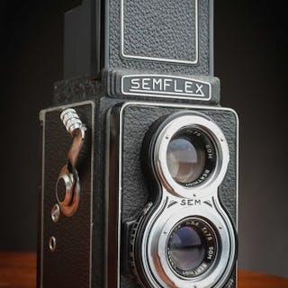 SEM (Semflex) XF lens Flor f 3,5 75mm en superbe étatavec étui pour collection