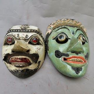 Topèng-Maske (2) - Holz - Java, Indonesien