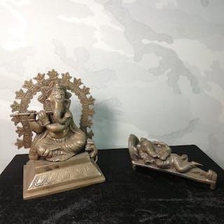 Skulptur - Patinierte Bronze - Deity