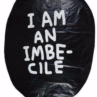 David Shrigley- I am an imbecile (Banksy Dismaland Balloon)