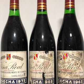 2 x 1968 & 1973 Viña Real, C.V.N.E.- Rioja Gran Reserva - 3 Bottles (0.75L)