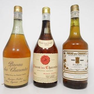 Gemischtes Los -Pineau des Charentes: 1966 Robert David & NV G