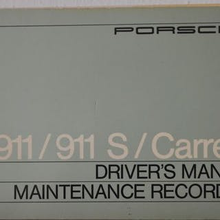Broschüren/ Kataloge - Porsche Drivers Manual+Maintenance...