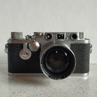 Leica III C  converted   III f  Self-Timer+ Summitar 5 cm + case