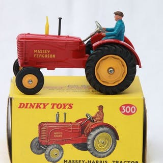 Dinky Toys - 1:43 - Massey Harris Tractor nr 300 - Made in England
