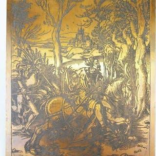 Albrecht Durer - The knight and the Landsknecht - Print...