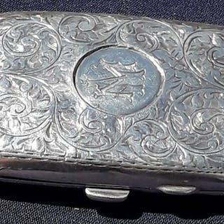 Zigarettenetui - .925 Silber - Großbritannien - Anfang des 20. Jahrhunderts