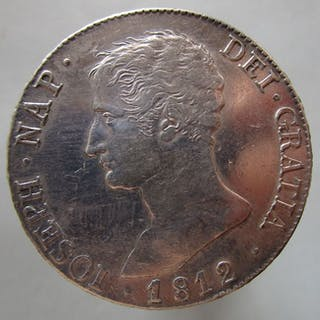 Spain - Jose Napoleon- 20 reales de Madrid-año 1812 - Silver