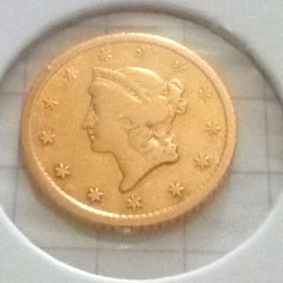 USA - 1 Dollar 1852-O Liberty head - Gold