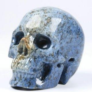 """2,0 """"Dumortierit geschnitzten Schädel Kristall - 2×1.6×1.2 in - 95 g"""
