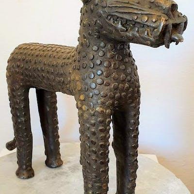 Sculpture - Bronze africain - BENI EDO - Nigeria