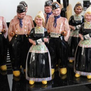 Zenith - Gouda Holland - Traditional Costume Drink Jugs...