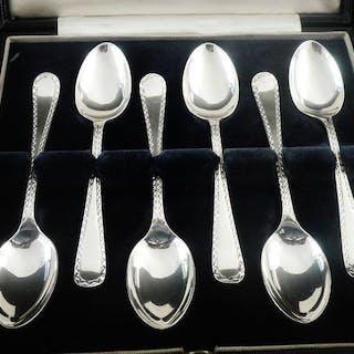 Set mit 6 Teelöffeln im Etui - .925 Silber - Cooper...