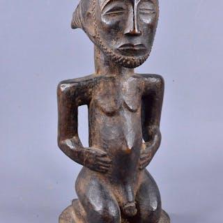 Ancestor statue - Wood - votive - Luba - Congo DRC