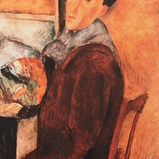 AmédéoModigliani(d'après) - Autoportrait