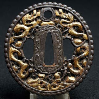 Nanban tsuba - iron - Japan - Edo Period (1600-1868)