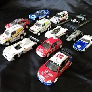 Varie - 1:43 - Lotto 12 Modelli Auto da Corsa (Rally, Lemans, Dakar)
