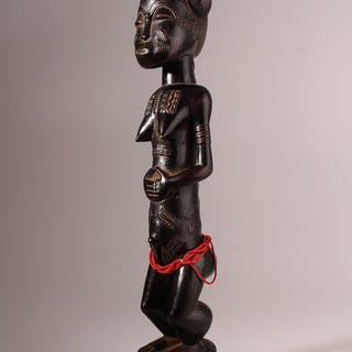 Statue(s) - Wood - Blolo Bla - Baoulé - Ivory Coast