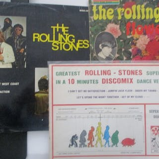 Band, Rolling Stones - Multiple titles - LP's - 1964/1976