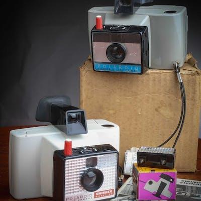 Polaroid SWINGER II neuf dans boite d'origine avec Flash et Model 20