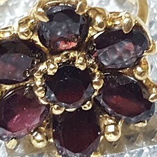 18 kt. Yellow gold - Ring Garnet - Garnets