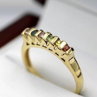 9 kt. Gelbgold - Ring - 0.18 ct Saphir