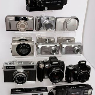 Canon 15 camera's uit verzameling