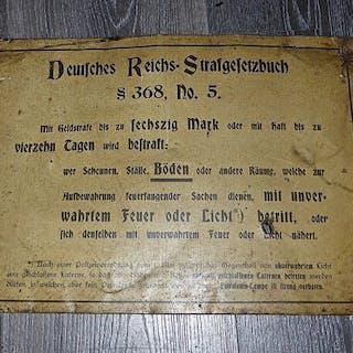Deutschland - Logistik - Warnzeichen WW1