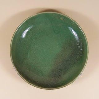 Saucer - Porcelain - An apple green glazed saucer - China - 19th century