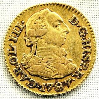 Spain - 1/2 Escudo - 1787 - Madrid - CARLOS III- Gold