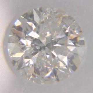 1 pcs Diamond - 1.06 ct - Round - H - I2, IGI