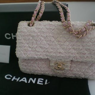 Chanel - Classic Single Flap Bag Quilted TweedShoulder bag