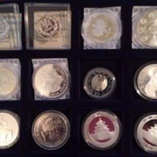 Welt - Collectie diverse munten en penningen (12 stuks)- Silber