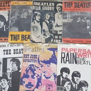 Beatles - Lot of 7 Dutch Picture Sleeve Singles...