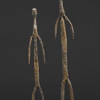 Skulptur - Schwarzes Eisen - Moba - Ghana