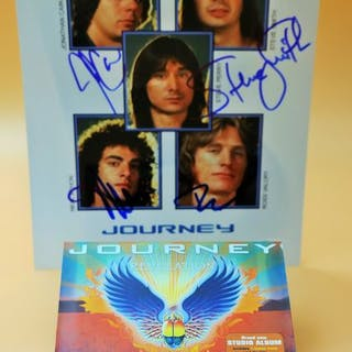 """Journey - one of the last signed of the great """"Jouney """"..."""