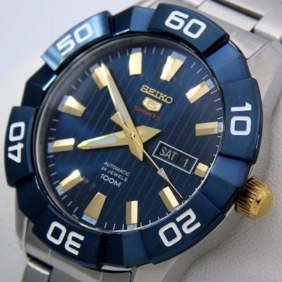 "Seiko - Automatic 24 Jewels ""Blue-Gold"" -  ""NO RESERVE..."