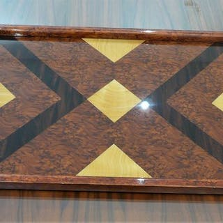 Piano tavolo Servo Art Déco - Modernista Geometrica Decor