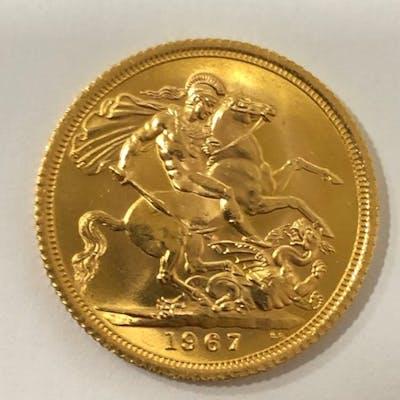 Regno Unito - Sovereign 1967 Elizabeth II - Oro