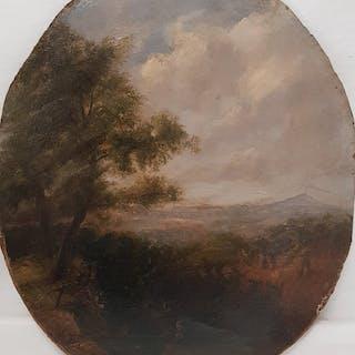 Salvatore Fergola (1799-1874) - Veduta di Napoli dalla piana di Caserta