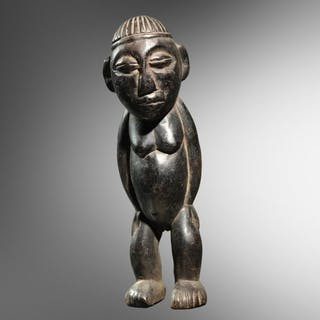 Ancestor figure (1) - Wood - Baoulé - Congo DRC