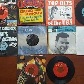 """Chubby Checker - 10 x 7"""" singles - Diverse Titel - 7″-Single - 1962/1975"""