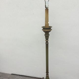 Lampada da terra con base in legno - Stile neoclassico