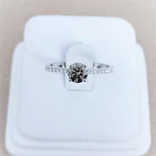 18 kt. White gold - Ring - 0.46 ct Diamond - Diamonds