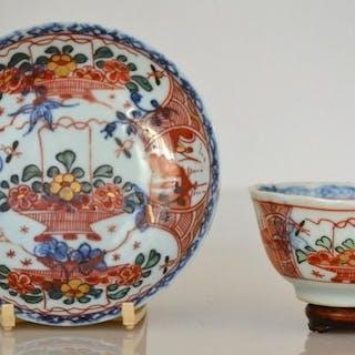 Eine Teetasse mit Untertasse aus Amsterdamer Fell - Porzellan - China - 18