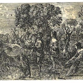 Claude Gellée, le Lorrain - Le Pasasage de Gue (Crossing the Ford)