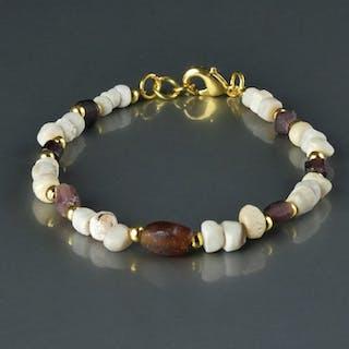 Ancient Roman Glass Bracelet with purple glass